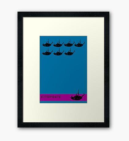 Exterminate poster blue Framed Print