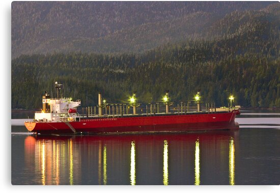 Freighter at Sunset by Randy Turnbow
