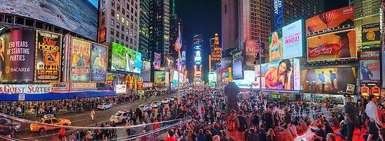 NYC Times Square Panorama by Yhun Suarez