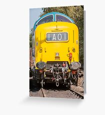 Deltic at rest .55022 Greeting Card