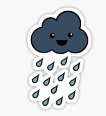 Happy Rain Cloud 3 Sticker
