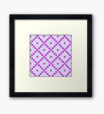 Knittimg pattern Framed Print