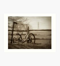 Antique Lawn Mower Art Print