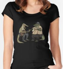 Dueling Crocodylidae Women's Fitted Scoop T-Shirt
