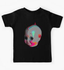 Tripped Out Doll Head Kids Tee