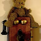 Ted's on the phone again.........! by Roy  Massicks