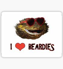 I Love Beardies! Sticker