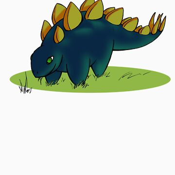 Fat Stegosaurus by greekamazon