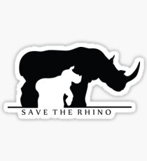 Save The Rhino (White Background) Sticker