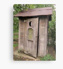Old Antique Country Outhouse Bathroom  Metal Print