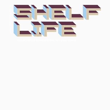 Shelf Life (gold t-shirt) by Tsalis