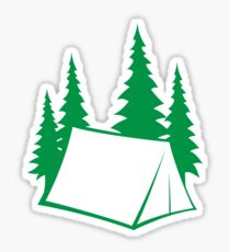 Camp Site - green Sticker