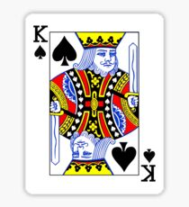King of Spades Playing Card Sticker Sticker