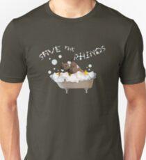 Splish Splash, Rhino Taking a Bath! T-Shirt