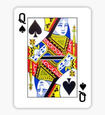 Queen of Spades Playing Card Sticker Sticker
