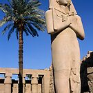Majestic statue of Ramses II at Karnak Temple, Luxor, Egypt. by Sami Sarkis