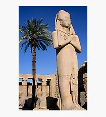 Majestic statue of Ramses II at Karnak Temple, Luxor, Egypt. Photographic Print