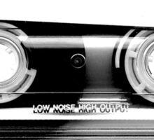 Cassette Tape Mixtape Clear Plastic Sticker