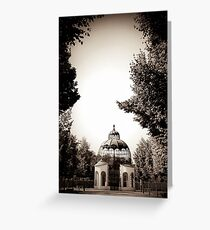 baroque garden aviary Greeting Card