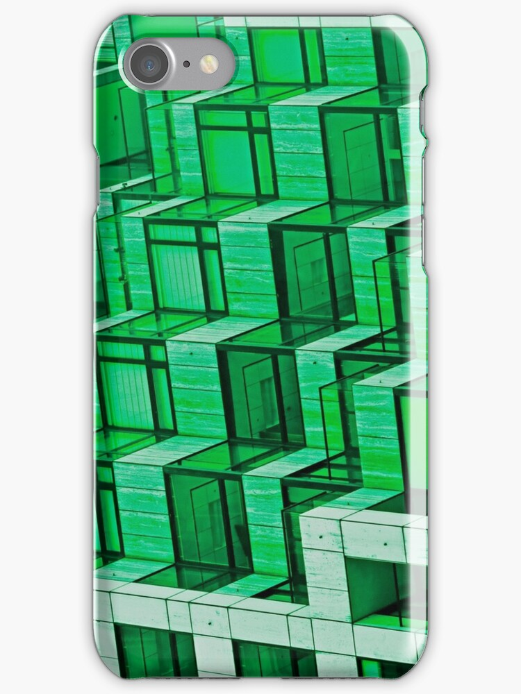 Green Architecture Abstract - iPhone Case by Buckwhite