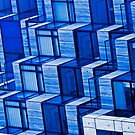 Blue Architecture Abstract - iPhone Case by Buckwhite