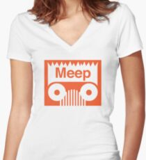 OFF ROAD MEEP Women's Fitted V-Neck T-Shirt