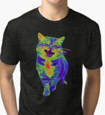 Psychedelic Cat Tri-blend T-Shirt