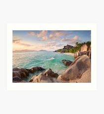 Welcome to La Digue Art Print