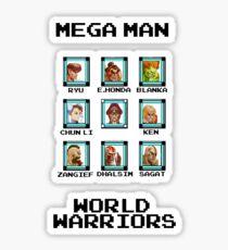 Mega Man - World Warriors Sticker
