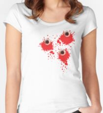 Bullet holes Women's Fitted Scoop T-Shirt