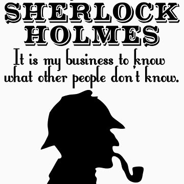 My name is Sherlock Holmes by ladysekishi