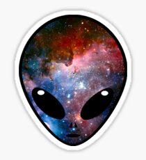 Space Alien Sticker