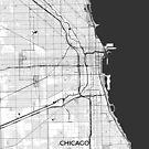 Chicago Karte grau von HubertRoguski