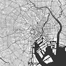 Tokio Karte Grau von HubertRoguski