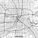 Houston Karte Grau von HubertRoguski