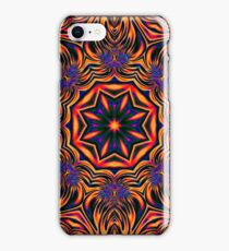 Psychedelic Kaleidoscope 1 Orange Mandala abstract iPhone & iPod Cases / Covers iPhone Case/Skin