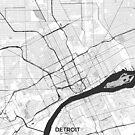 Detroit Karte Grau von HubertRoguski