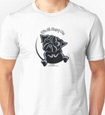 Camiseta unisex Black Pug :: Todo se trata de mí