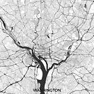 Washington Karte grau von HubertRoguski