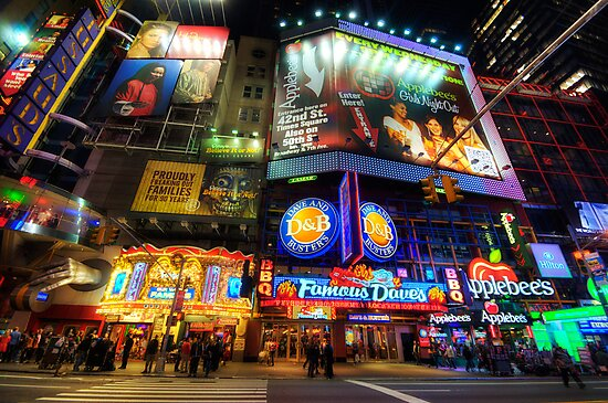 Stunning Lights Of 42nd Street  by Yhun Suarez