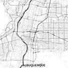 Albuquerque Karte Grau von HubertRoguski