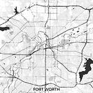 Fort Worth Karte Grau von HubertRoguski