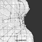 Milwaukee Karte Grau von HubertRoguski