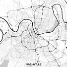 Nashville Karte grau von HubertRoguski