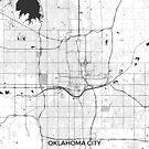 Oklahoma City Karte Grau von HubertRoguski