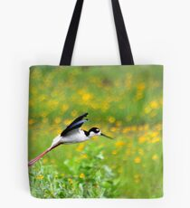 Black Necked Stilt Tote Bag