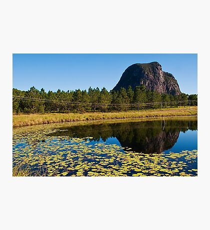Mt Tibrogargan Pond Reflection Photographic Print