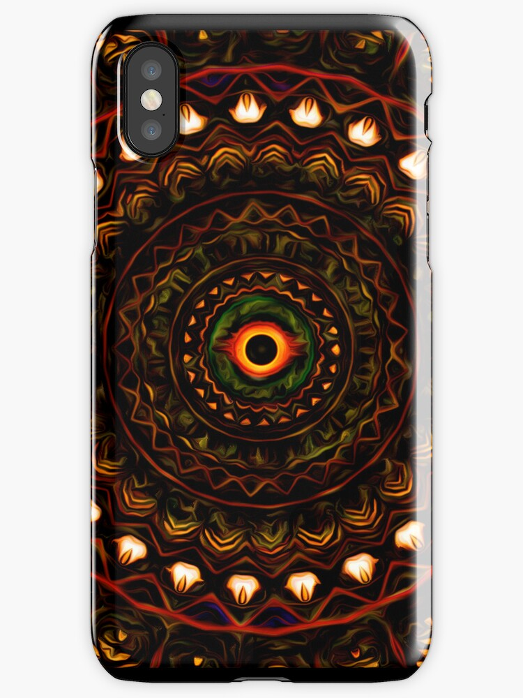 Kaleidoscope 4 Abstract Brown iPhone & ipod Case / Covers by Leah McNeir