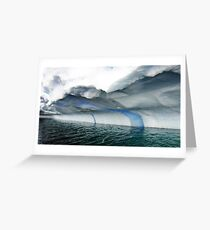 Beautiful Blue Streak Greeting Card