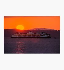 Sunset from Edmonds Photographic Print